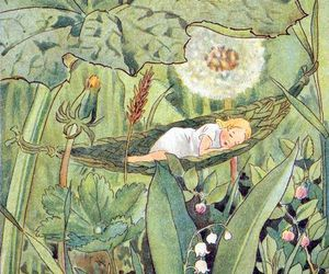 artwork, dandelion, and sleep image