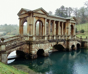bath, bridge, and landscape image