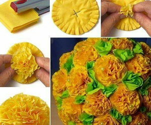 diy, flor, and papel image