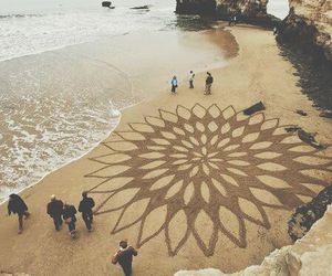 beach, art, and sand image