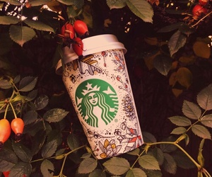 starbucks and fall image