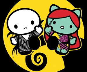 Halloween and hello kitty image