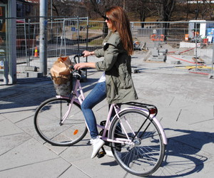 bike, girl, and perfect hair color image