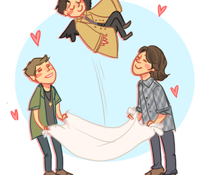 adorable, dean winchester, and castiel image