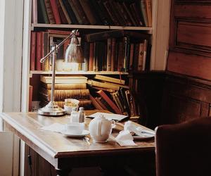 book, vintage, and desk image
