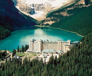 canada, mountains, and lake louise image
