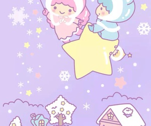 sanrio, little twin stars, and wallpaper image