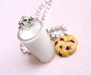 cute, milk, and necklace image