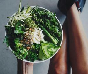 fit, vegan, and food image