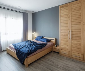 apartment, bedroom, and furniture image