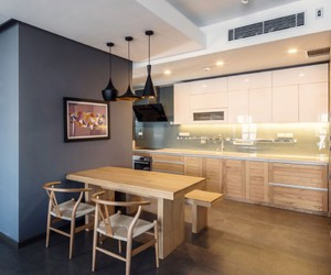 apartment, design, and kitchen image