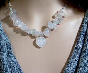 crystal necklace, etsy, and heart necklace image
