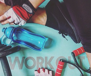 cycling, exercise, and gloves image