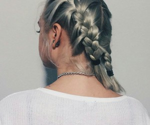 braid, hair, and silver image