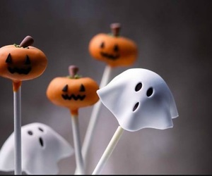 ghost, Halloween, and candy image