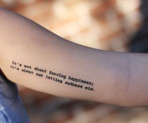 tattoo, happiness, and sadness image