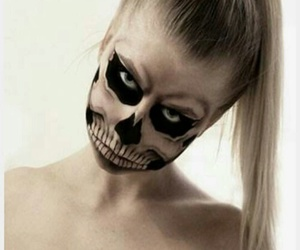 girl, Halloween, and skeleton image