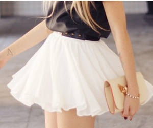 accessories, chic, and skirt image