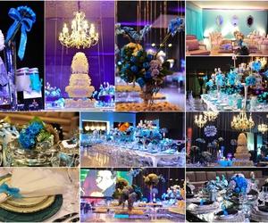 beautiful, blue, and decoration image