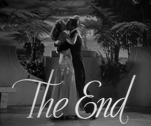 the end, black and white, and kiss image