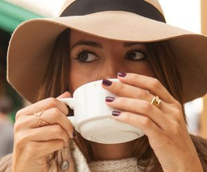 fashion, coffee, and pretty image