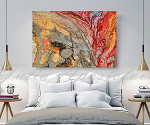 Abstract Painting, etsy, and living room decor image