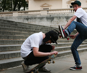 boys, funny, and skate image