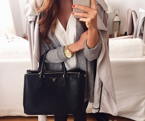 bag, black, and watch image