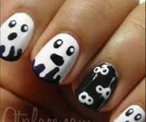 Halloween, nails, and ghost image