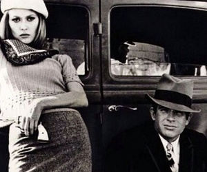 bonnie and clyde and black and white image