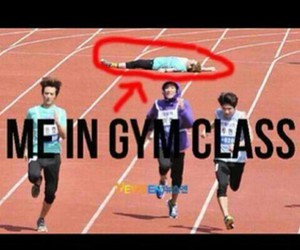 funny, gym, and me image