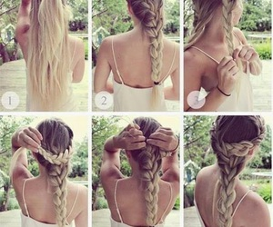 braids, hairstyle, and pretty image