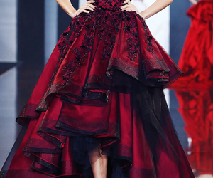 dress, red, and ralph & russo image