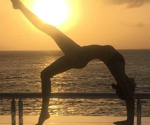 sun, yoga, and fitness image