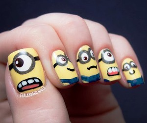 minions, nails, and cool image