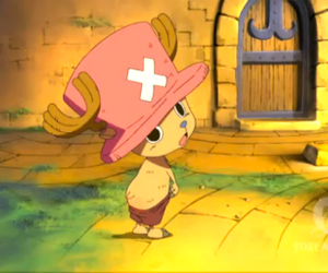 chopper, one piece, and chapeau rose image