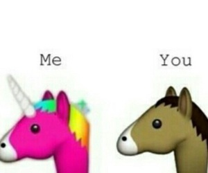 funny, horse, and unicorn image