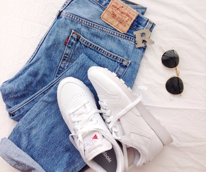 classic, jeans, and reebok image