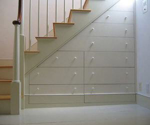 storage solution, space saving ideas, and staircace image