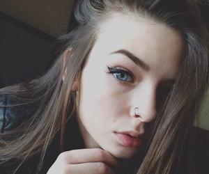 girl, piercing, and grunge image