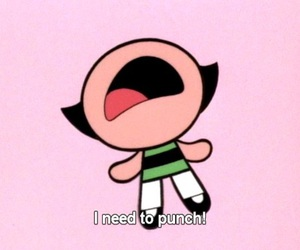 punch, powerpuff girls, and buttercup image