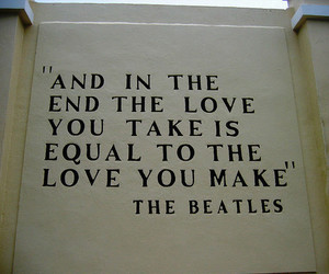 love, the beatles, and quote image