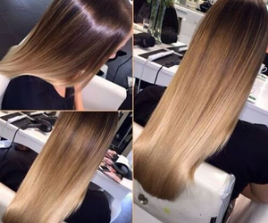 hair, ombre, and beauty image