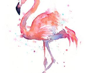 flamingo, pink, and art image