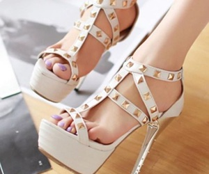 shoes, stilletos, and summer image