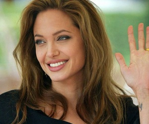 Angelina Jolie and smile image