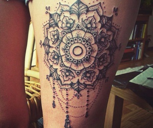 beautiful, flower, and mandala image