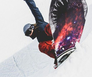 mountain, shred, and snow image