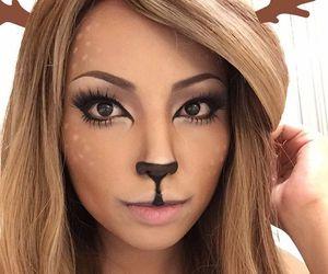 Halloween, makeup, and deer image