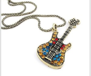 guitar, fashion, and necklace image
